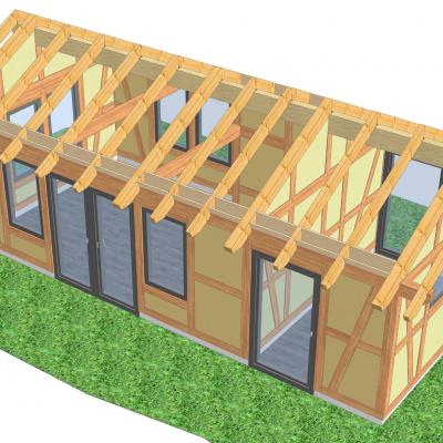 Gartenhaus Ansicht 3